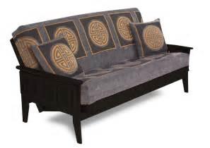 Santa cruz futon couch in oak dark cherry or java brown finish bed