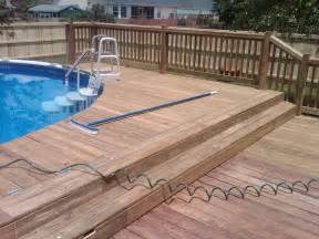 installed handrails and decks