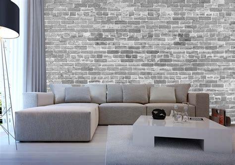 Tapisserie Et Blanche tapisserie brique relief avec papier peint salon noir et