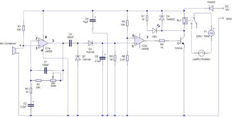 Saklar Tepuk rangkaian elektronica sederhana lu tepuk dengan sensor