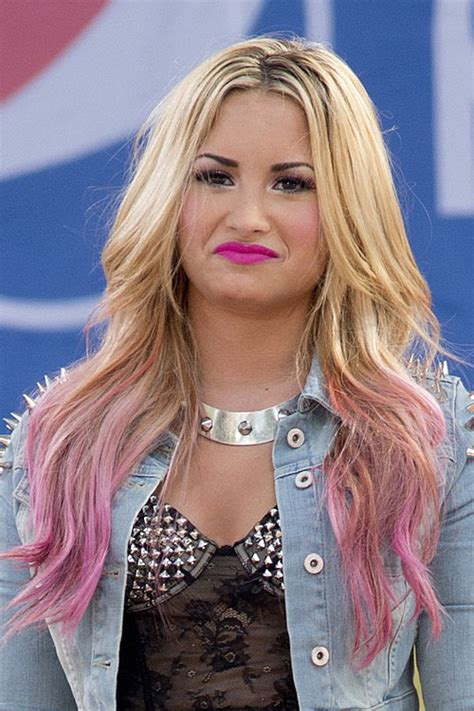 demi lovato inspired pink purple dip dye ombre hair celebrity dip dyed hairstyles page 2 of 11 steal her