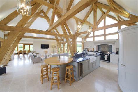 oak framed kitchen dining  garden room extension