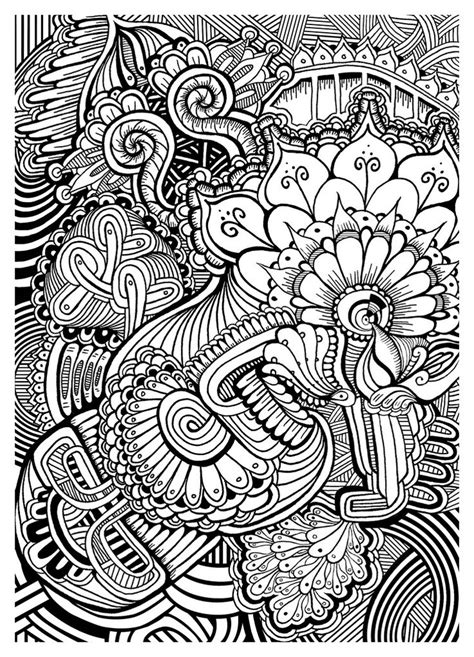 coloring page zentangle doodle zentangle by f rohde flickr my color book