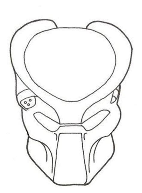 Predator Mask Coloring Pages by Apredator Mask Colouring Pages