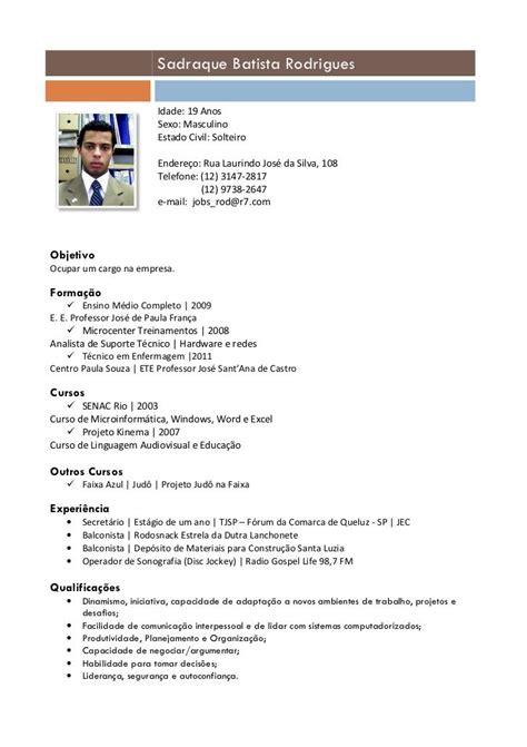 Modelo Curriculum Vitae Nominativo modelo de curriculum vitae 2013 atualizado modelo de