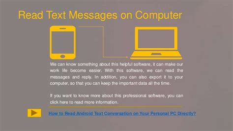 android read text how can i read android text messages on computer