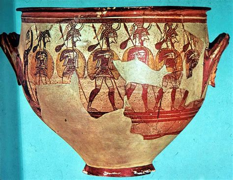 Mycenaean Warrior Vase by Front