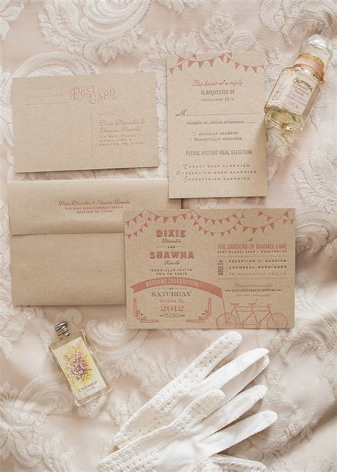 1920s wedding invitations ideas s themed wedding dixie real weddings on bridal