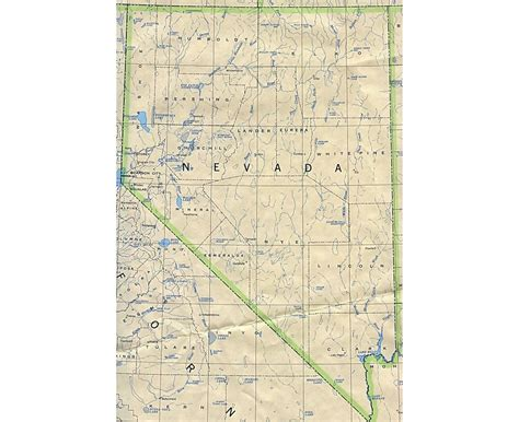 detailed map of nevada usa maps of nevada state collection of detailed maps of