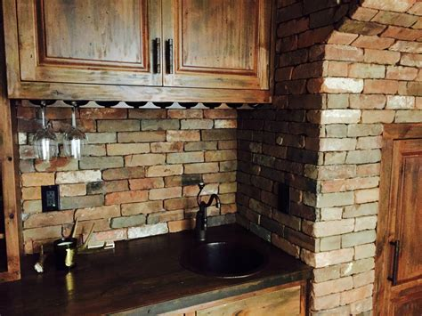 veneer kitchen backsplash reclaimed thin brick veneer thin brick veneer brick backsplash regarding brick backsplash