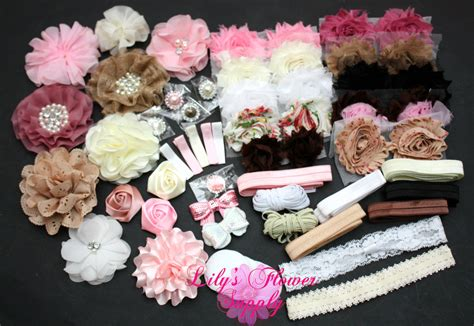 Hair For Baby Shower by Baby Shower Headband Kit Deluxe Diy Hair Bow Kit Baby Shower