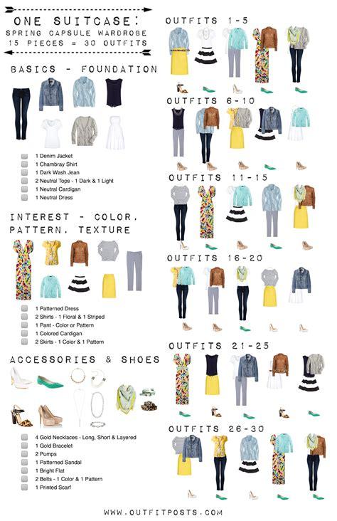 Summer Wardrobe Checklist by 15 Easy Pieces For 30 Summer Capsule Wardrobe