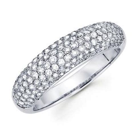pave setting diamond anniversary ring photos slideshow