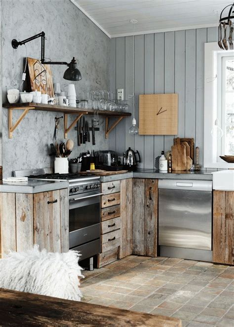 rustic and vintage kitchen design with modern and shabby book club modern rustic by country living magazine