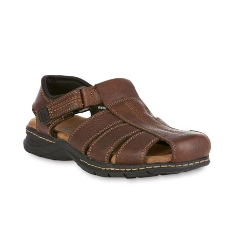 mens leather fisherman sandals dr scholl s s xavier leather fisherman sandal brown