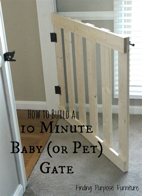 diy gate 10 minute diy baby pet gate finding purpose