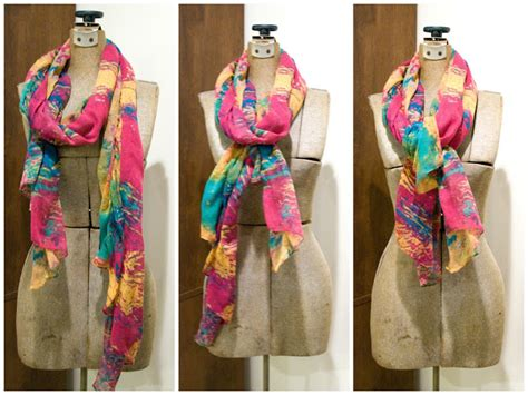 how to drape a scarf around your neck five sixteenths blog trend tuesday 3 ways to tie a scarf