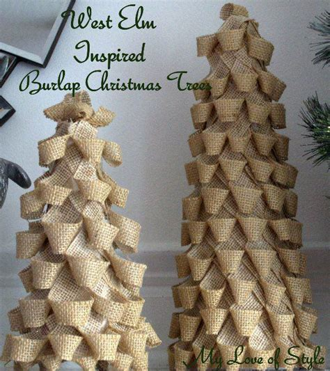 diy burlap christmas trees my love of style my love of