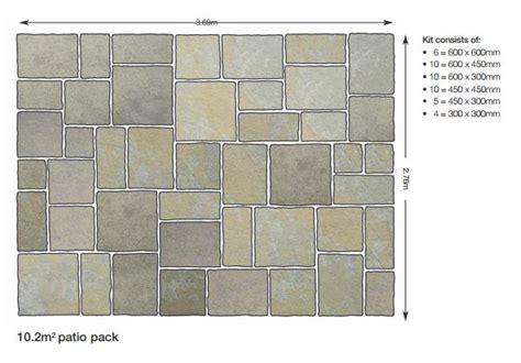 Patio Laying Patterns 4 Sizes by Bradstone Honeymede Limestone Paving Farnborough Hshire