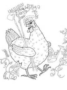 red hen coloring page supercoloringcom