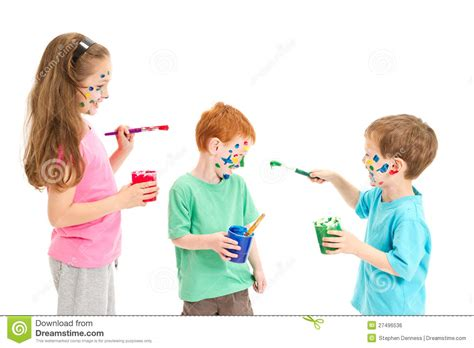 children s painting free painting mess royalty free stock image image