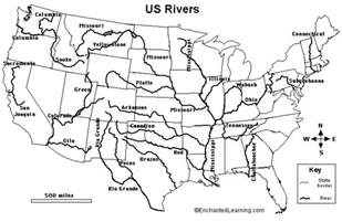 United States Major River Systems Map by River Systems Mr Myrtue S World