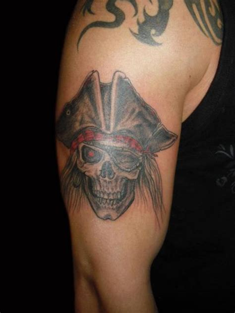 body art and soul tattoo arm skull pirate hat by and soul