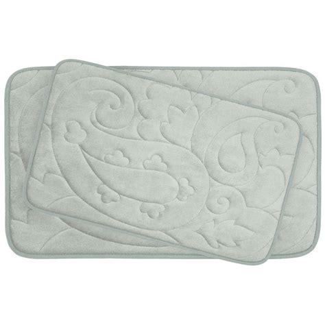 light grey bathroom rugs bouncecomfort pelton light gray memory foam 2 piece bath