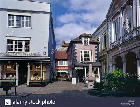 houses to buy in windsor the crooked house tea rooms and high street windsor town centre stock photo royalty