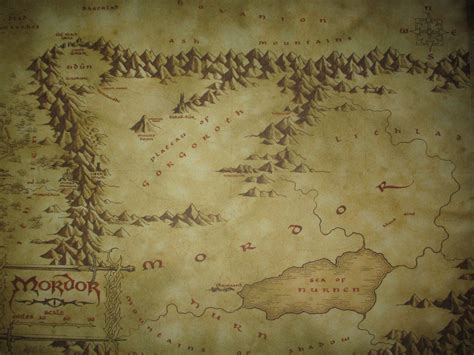 map of mordor the great void