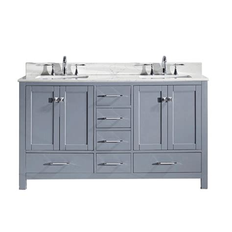 virtu usa caroline avenue 60 in w x 22 in d vanity in
