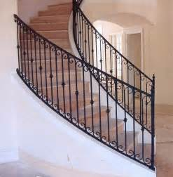 Tuscan Bathroom Decorating Ideas Interior Wrought Iron Stair Rails With Newel Posts