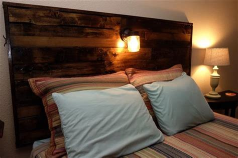 beds with lights in headboard diy pallet headboard with lights pallet furniture plans