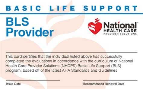 Aha Bls Cards Template by Bls Certification Renewal
