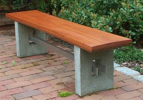 concrete bench plans wood concrete metal benches landscaping network