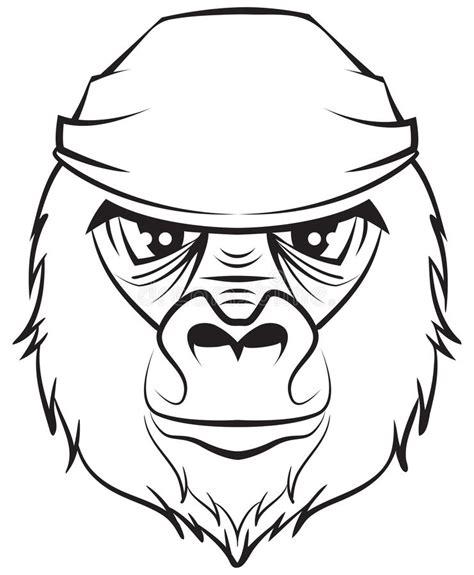 imagenes de c kan blanco y negro cabeza del gorila dibujo blanco y negro ilustraci 243 n del