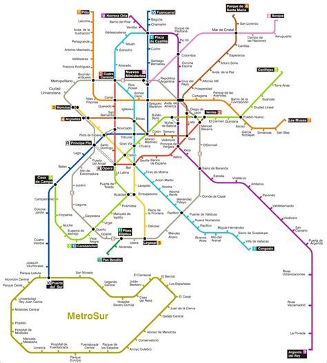 plano metro de madrid mapa metro madrid
