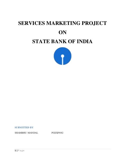 Indian Bank Letterhead Sbi Services Marketing Project Pgexp13 15