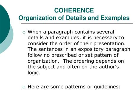 what pattern of organization does this paragraph follow the expository paragraph