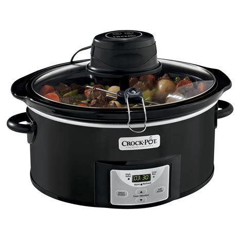 Win A Programmable Crock Pot Cooker by Crock Pot 174 6qt Oval Programmable Digital Cooker With