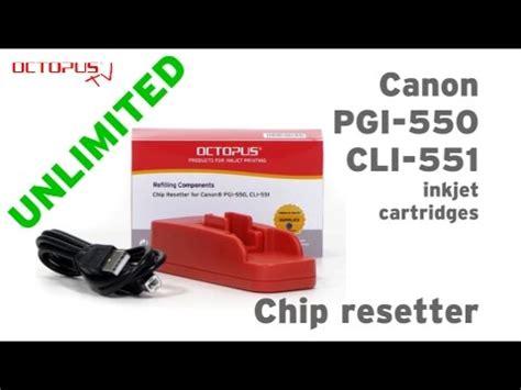 jual chip resetter canon chip resetter for canon pgi 550 cli 551 inkjet cartridges