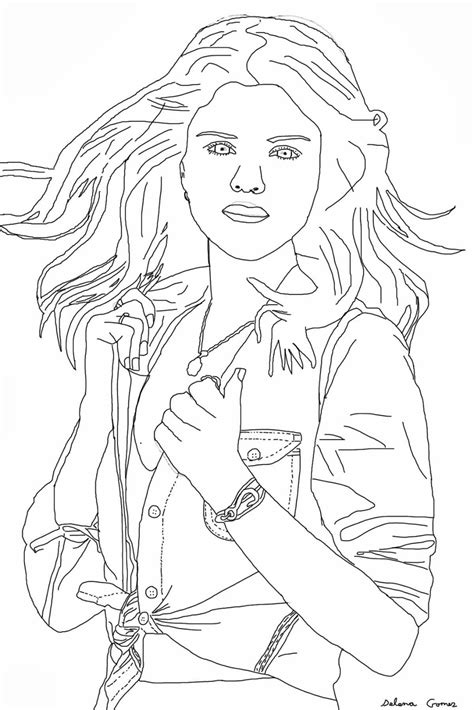 selena gomez free coloring pages