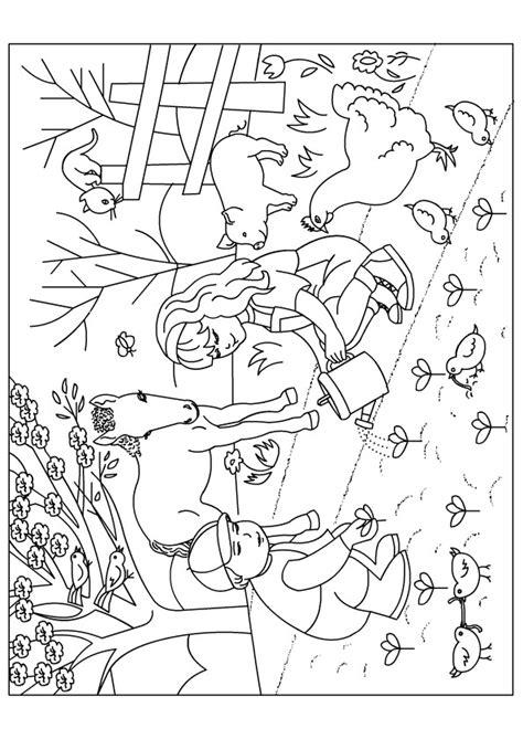 Coloriage Jardin Fleurs Ferme dessin gratuit à imprimer