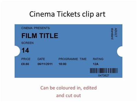 cinema ticket template word cinema tickets clip