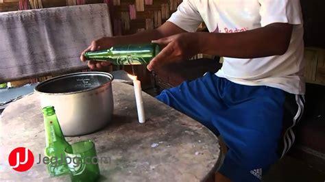 membuat kerajinan listrik cara gang merubah botol bekas menjadi gelas diy bottle