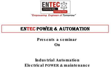Mba Industrial Automation by Entec Power Automation