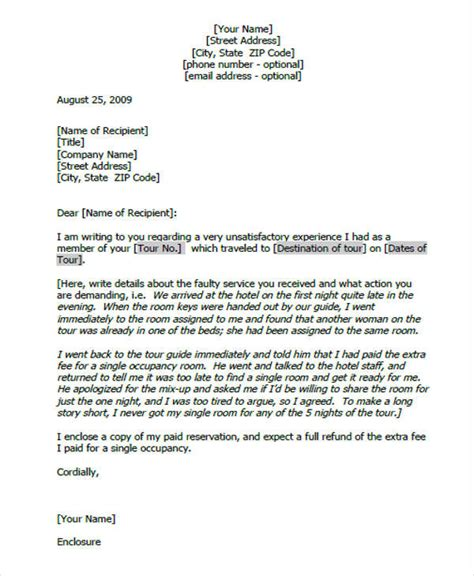 Complaint Letter Sle To Government Complaint Letters In Pdf Free Premium Templates