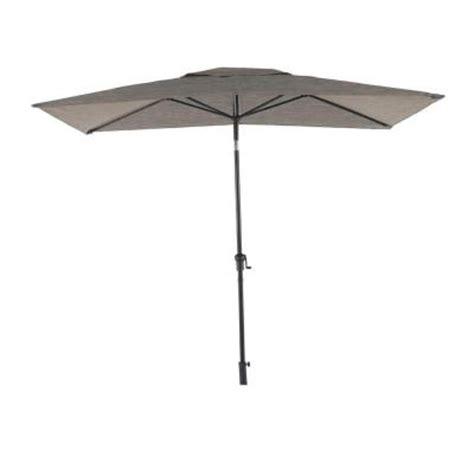 Gray Patio Umbrella Hton Bay Statesville 6 Ft X 9 Ft Rectangle Patio Market Umbrella In Gray Yjauc 171