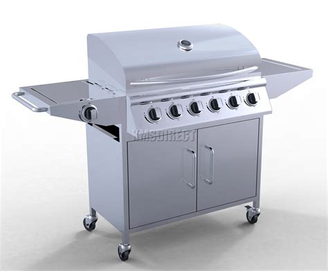 bbq pro 5 burner gas grill with side burner limited availability outdoor living 6 burner bbq gas grill stainless steel barbecue 1 side silver outdoor portable ebay