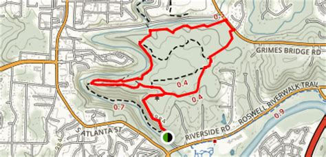 vickery creek trail map vickery creek trail alltrails